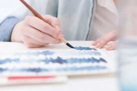 Art is a good way to unwind and relieve stress. It can also help improve focus.