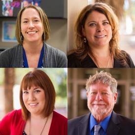 Clockwise, from top left: Nicole Scovis, Jennifer Lechner, Robert Lipsy and Jessica DiLeo