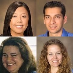 Clockwise, from top left: Hanna Phan, Asad Patanwala, Terri Warholak, Heidi Mansour