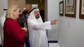 The Sharjah ruler gave Hart a personal tour of his cultural center and discussed potential new partnerships with the UA.<br />