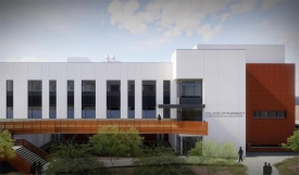 Ongoing renovations to the College of Pharmacy's Skaggs Pharmaceutical Sciences Center, shown in this rendering, will help the college grow and adapt to the changing pharmaceutical fields.
