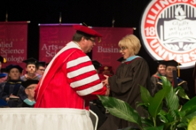 Teri Lucie Thompson received the 2016 Distinguished Alumni Award from her alma mater, Illinois State University.