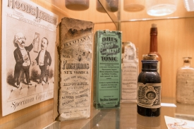 Assorted tonics from the 1800s. (Photo by Tabbs Mosier/College of Medicine – Phoenix)