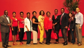 Members of the UA President's African American Advisory Council and Raji Rhys, UA Chief Diversity Officer (second from right)