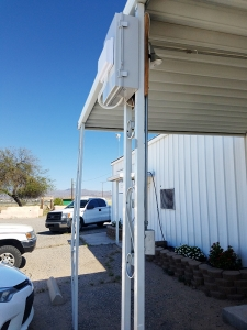 This wireless access point was installed overlooking the parking lot at the La Paz County/Colorado River Indian Tribes Cooperative Extension office in Parker. (Photo courtesy of UITS)