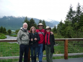 Havens on a trip to Alaska in 2009 with his wife, daughter Deborah Kriegel and son-in-law Skip Kriegel (Photo courtesy of the Havens family)