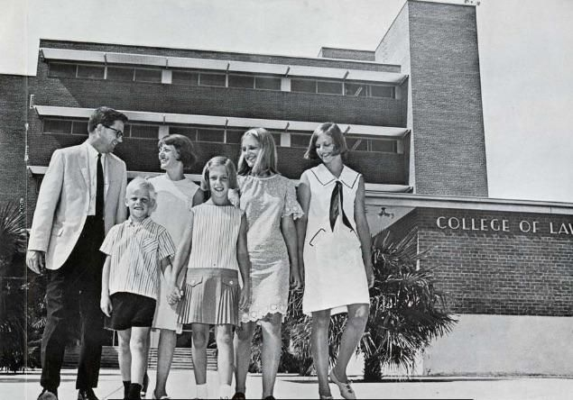 Charles and Jean Ares with their children, Ron, Nancy, Amy and Marna, in 1966.