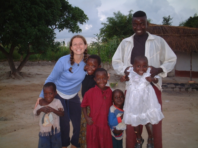 Alyssa Guido served as a Peace Corps volunteer in Zambia, where she did HIV/AIDS education and assisted with a program that tracked childrens' growth rates to assess their health.