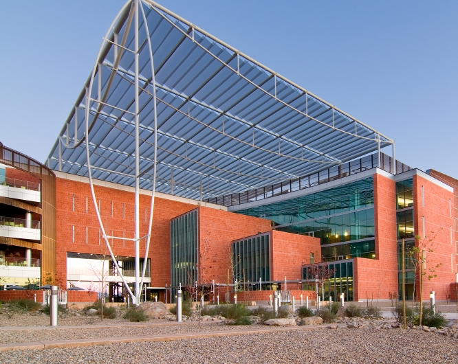 The Thomas W. Keating Bioresearch Building, which houses the BIO5 Institute. (Photo: John Sartin)