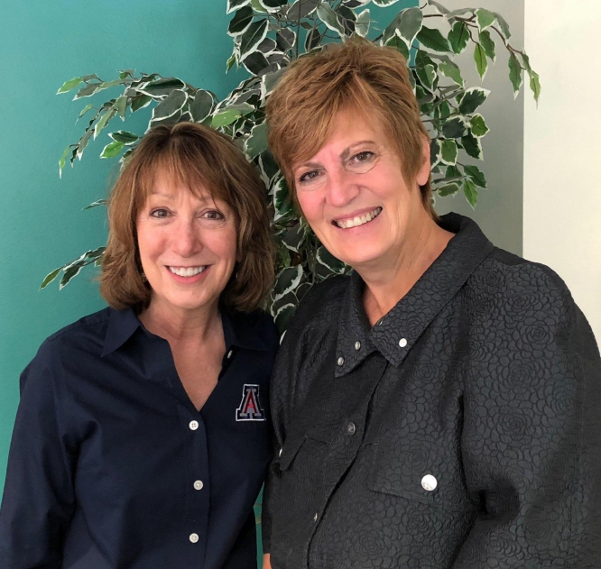 Diane Brennan, left, and Deborrah Himsel have already coached more than 60 people through Human Resources' new leadership and executive coaching services.