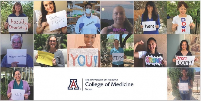 Members of the Faculty Diversity Advisory Committee at the College of Medicine – Tucson