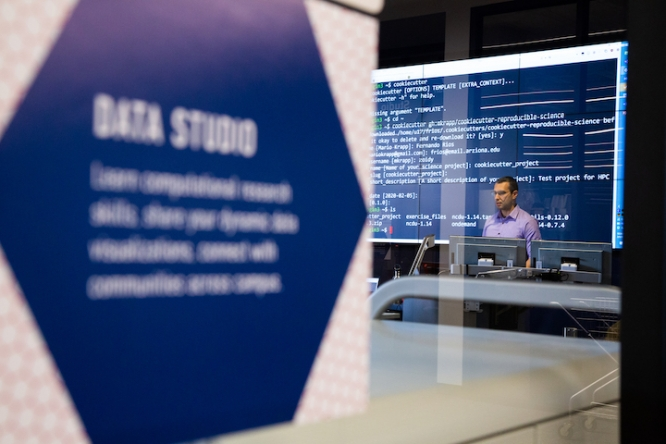 Many on campus are discovering the Data Studio for the first time.