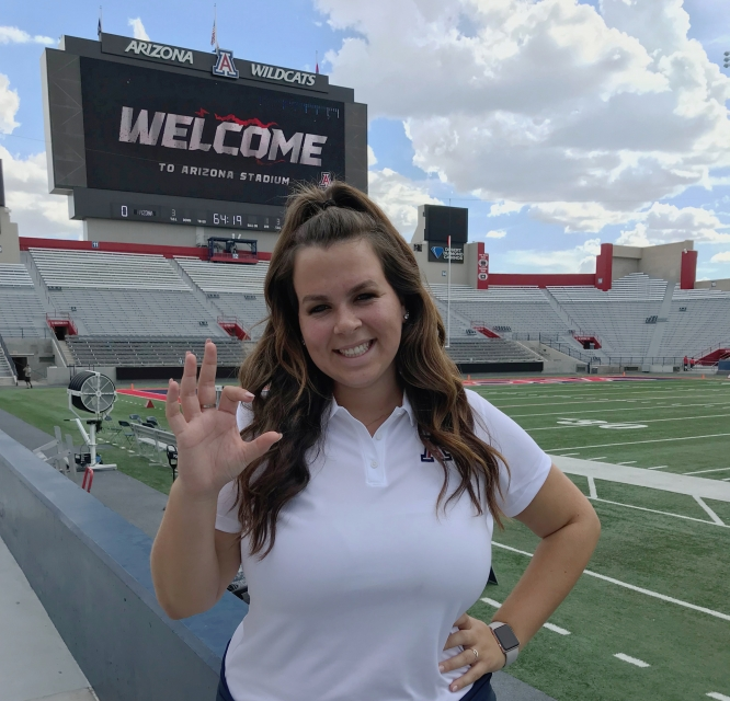 Katherine Feehan is a recruiting and player personnel intern for Arizona Football.