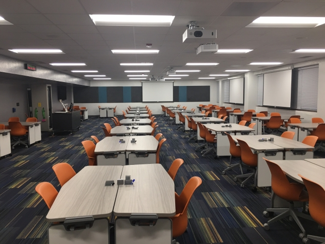 The UA has begun overhauling spaces across campus, like this room in the Ina E. Gittings Building, to create environments that foster interaction and hands-on activities.
