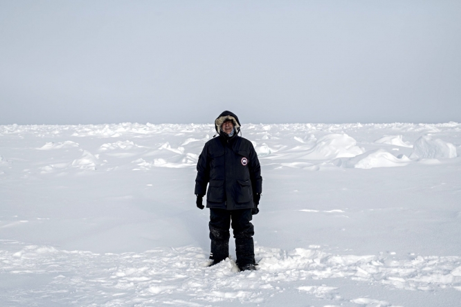 Herman at the North Pole in April.