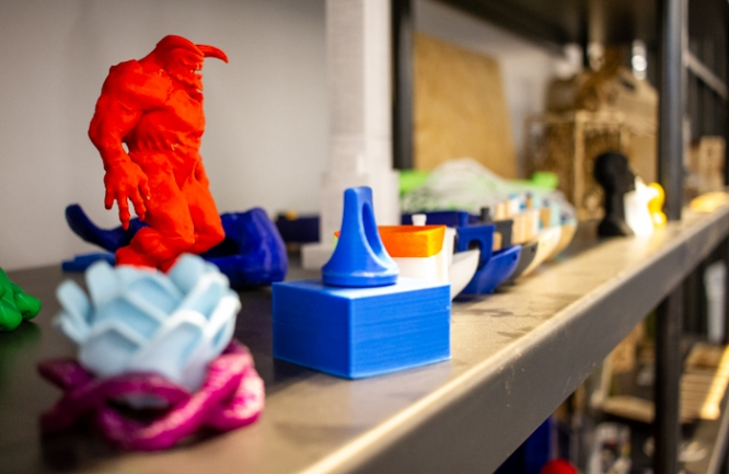 Faculty, staff and students can use 3D printers in the Maker Studio for personal or professional projects. (Photo by Kyle Mittan/University Communications)