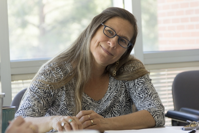 "Elaine Romero, a playwright and assistant professor at the School of Theatre, Film and Television, said good playwrights will always maintain ""the readiness to respond to the world."""