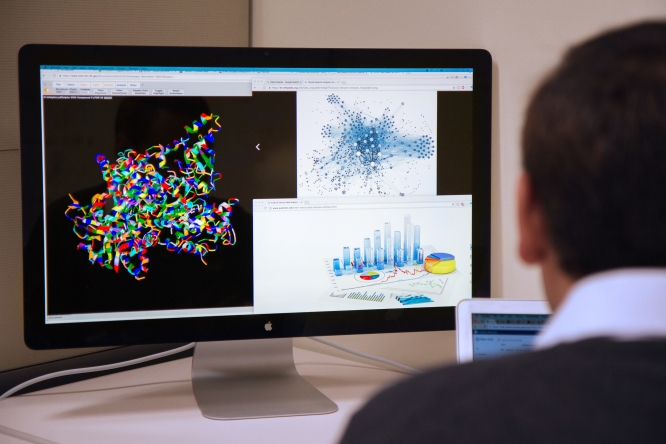 Data visualization is a critical tool for researchers analyzing complex data sets. Two new institutes on campus aim to increase data literacy among UA researchers. (Photo: Mari Cleven/Research, Discovery and Innovation)