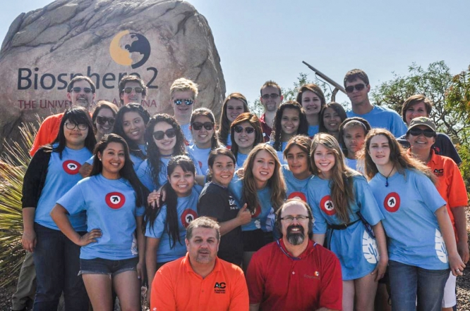 High school students in the Global Environmental Leadership and Sustainability Program can participate in a weeklong overnight camp where they will examine the diverse biomes and climate zones of the UA's Biosphere 2.