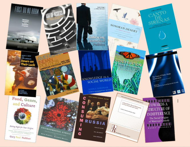The research conducted by several former faculty fellows resulted in published books. (Graphic by Robert Varady)