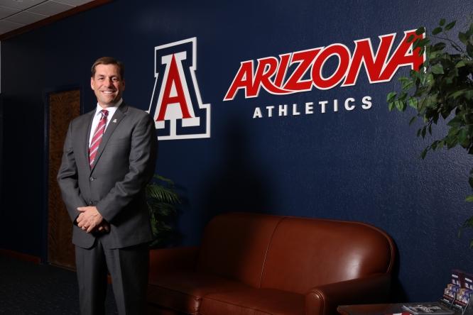 Dave Heeke started as UA vice president for athletics on April 1. (Photo: Stan Liu/Arizona Athletics)