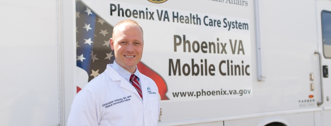 Thanks to Christopher Hollweg's database, the mobile clinic has seen a 250 percent increase in veterans showing up for vaccinations.