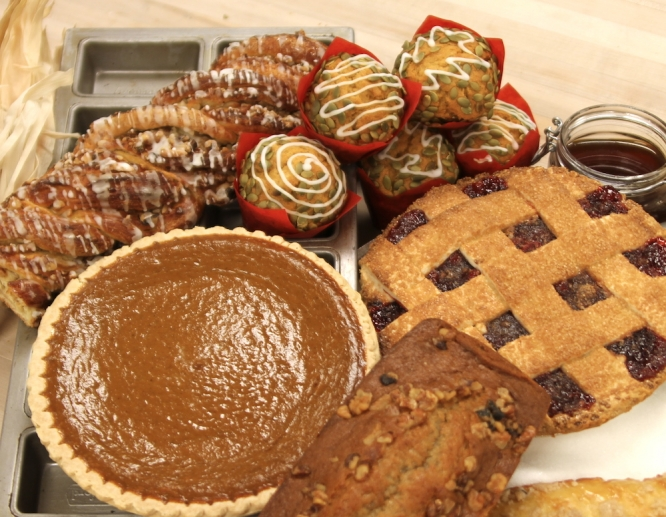 Thanksgiving meals can be ordered as a package or a la carte. If you just want the sweets, there's a bake sale order form.