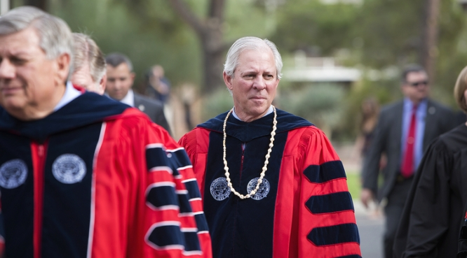 The UA had a big year in 2017, which included welcoming its 22nd president, Robert C. Robbins. (Photo: John de Dios/UANews)
