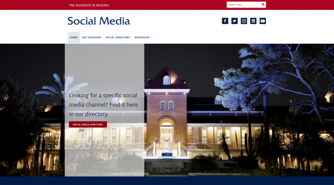 A new website from UA Marketing & Brand Management, social.arizona.edu, intends to be a repository of information and resources for the UA's social media managers.