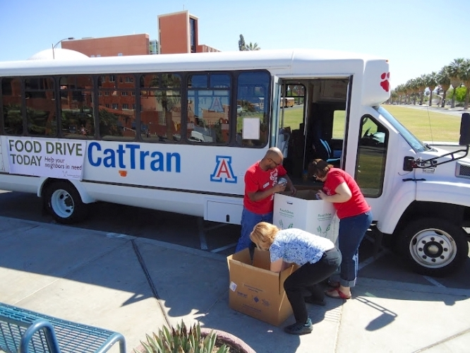 """In past years, """"Stuff the Cat Tran"""" has been a signature UA Cares event."""