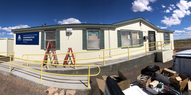 A wireless access point was added outside the Navajo County Cooperative Extension office in Holbrook. (Photo courtesy of UITS)