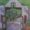 """Hacienda del Sol,"" transparent watercolor by Christine Mach-Handgis."