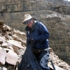 Peter DeCelles on Mt. Kailas in southwestern Tibet. DeCelles has been awarded the Geological Society of America's Laurence L. Sloss Award for 2008. (Credit: Paul Kapp, The University of Arizona)
