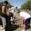 About 500 UA students and employees volunteered to clean up seven campus-area neighborhoods. (Photo courtesy of the Office of Community Relations)