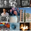 This photo montage features (top row) LPL founder Gerard Kuiper, (second row, left to right) Dale Cruikshank, who was among the first LPL graduate students, Ray Heacock of the Jet Propulsion Lab, Kuiper and Ewen Whitaker of the Ranger team, the Kuiper Space Sciences Building, (bottom row) the Phoenix Mars Mission team, a Martian crater, the Phoenix Lander spacecraft launch in August 2007, and a Phoenix Lander Surface Stereo Imager view of northern polar Mars taken in June.