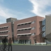 An artistic rendering of a new UA residence hall proposed for Sixth Street near Tyndall Avenue.