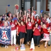 Students at the UA's College of Medicine campus in Phoenix celebrated Sea of Red Day early. (Photo by Keven Siegert)