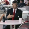 President Shelton, who initiated Arizona Assurance, chats with students at the Student Union Memorial Center.